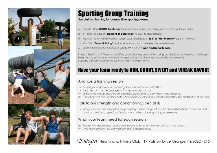 Sporting Group Training