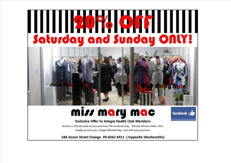 miss mary mac 20% Off Voucher