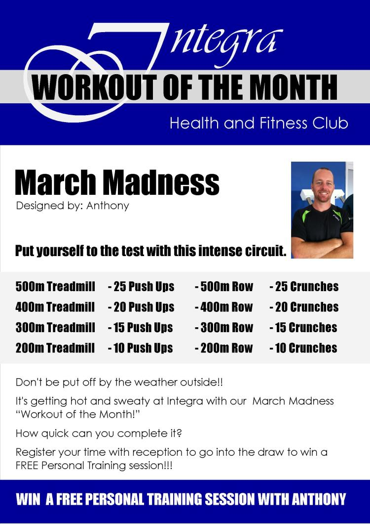 Workout of the Month - MARCH MADNESS