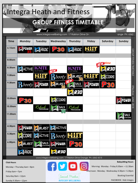 JUNE TIMETABLE