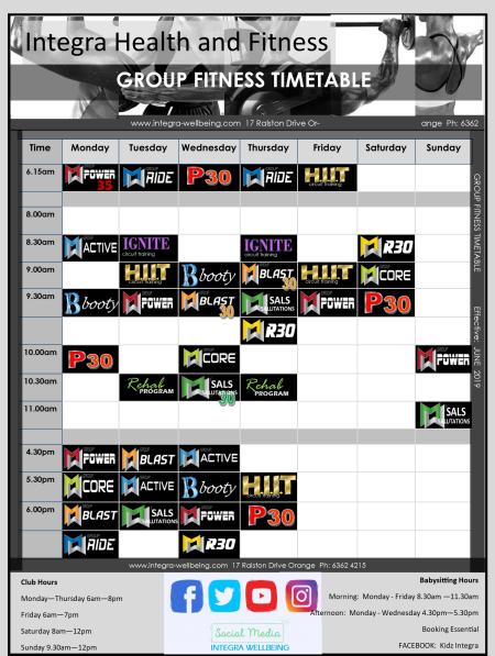 gf timetable 2019